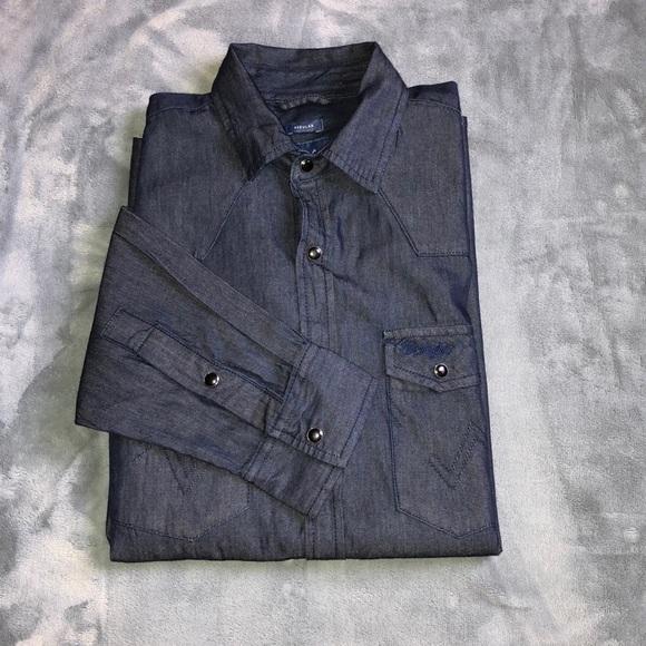 7ccf59e75a69 Wrangler Shirts | Nwot Denim Western Shirt | Poshmark